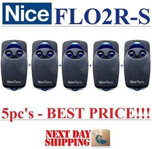 5 x flo2r s nice handsender nice flo2r s sender rolling code 433 92mhz ebay. Black Bedroom Furniture Sets. Home Design Ideas