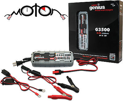 Motorcycles and More NOCO Genius G1100UK 6V//12V 1,1A UltraSafe Smart Battery Charger for Cars