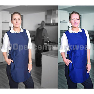 Warrior-TA80-Long-Tabard-Apron-with-Large-Front-Pocket-Catering-Cleaner-Cleaning