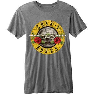 Guns-N-039-Roses-Bullet-Logo-Burnout-Official-Merchandise-T-Shirt-M-L-XL-Neu