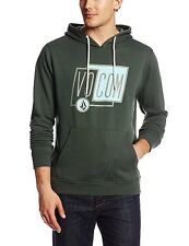 Volcom Men's Sheared Pullover Sweatshirt Jungle Green Medium