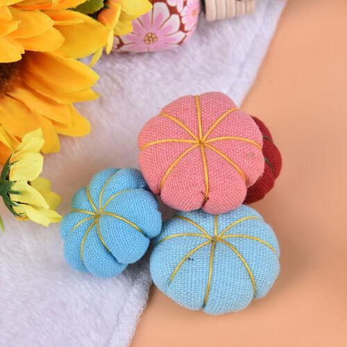 1PC Cute Pumpkin DIY Craft Needle Pin Cushion Holder Sewing Kit Pincushiotb