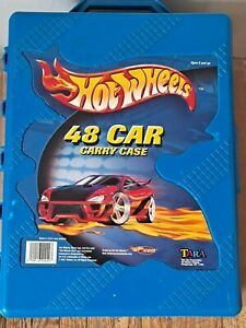 2001-Hot-Wheels-48-Car-Carrying-Case-Blue-20020-USA-Tara-Toy-Corp-Red-Car-Lt-6