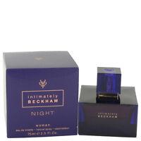 David Beckham Intimately Night 75ml/ 2.5oz Women's Edt Spray Sealed Box Rare