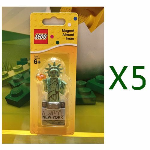 5pcs Lego 853600 Statue of Liberty Nuovo York Magnet Brand Nuovo 2016 RARE