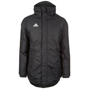Details zu adidas Performance Parka 18 Stadionjacke Herren schwarz weiß NEU