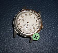 32)⌚ BULOVA 40er Vintage Military Watch WW II WK 2 US Army Parts Case Mouvement