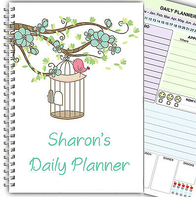 PERSONALISED DAILY PLANNER/ ORGANISER/ A5 WIRE BOUND TO DO LIST DIARY