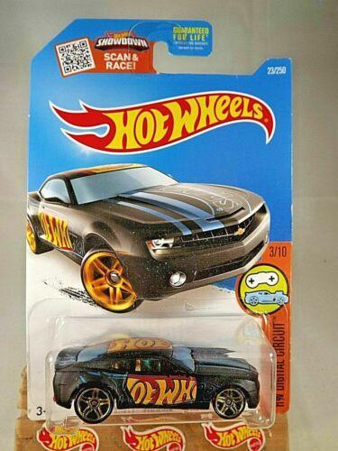 2016 Hot Wheels #23 HW Digital Circuit 3//10 CHEVY CAMARO CONCEPT Black Variant