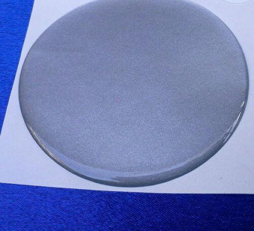 4x Argent emblèmes pour moyeu Bouchons jantes 55 mm couvercle en silicone Autocollant 3d 1322