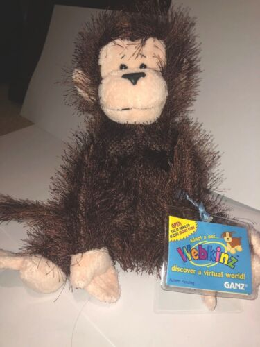 NWT Webkinz Original FULL SIZE Retired Monkey New With Code