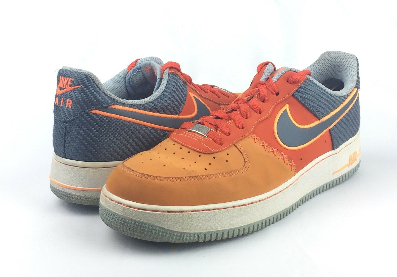 Nike Air Force 1 AF-1 '82 Men's Orange Low Top Basketball Shoes Comfortable The most popular shoes for men and women