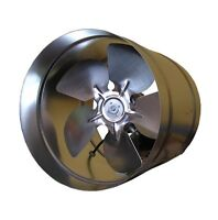 Commercial Ducting Metal Extractor Fan Galvanized Duct Axial Inline Industrial V