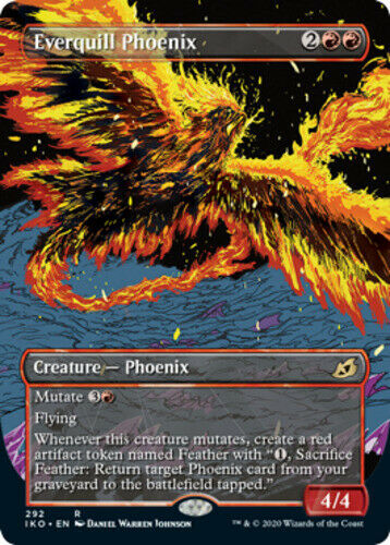 Foil Lair of Behemoths IKO ~ MTG 1 x NM Everquill Phoenix Showcase ~ Ikoria
