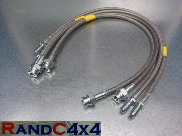 1315 Land Rover Discovery 1 +150mm  Extended Brake Hoses Stainless Steel 95-99
