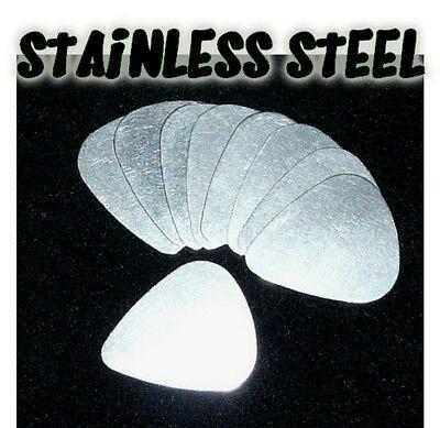 12 x STAINLESS STEEL metal PLECTRUMS PICKS electric acoustic guitar