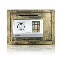 Electronic Safe Box Keypad Lock Home Office Hotel Jewelry Gun Cash Bronze T1z5 on sale