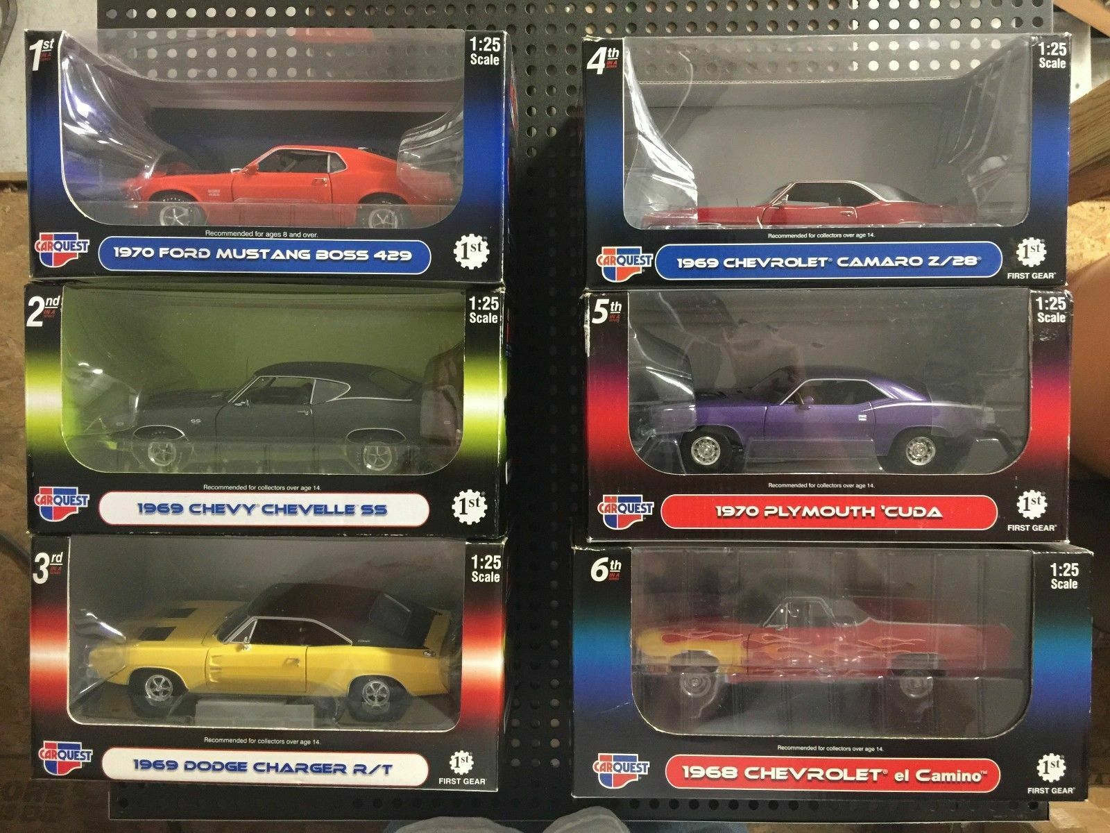CARQUEST Muscle Car Set of 6 Cars