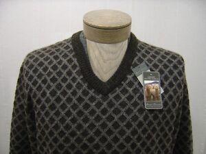 12282acf19a Image is loading Daniel-Cremieux-Mens-100-Wool-Alpaca-Sweater-Argyle-