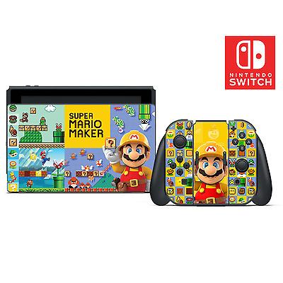 Super Mario Maker Vinyl Skin Sticker Set for Nintendo Switch