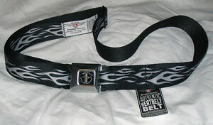 Ford-Mustang-Emblem-Seatbelt-Belt-with-Silver-flames-great-gift