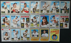 2019-Topps-Heritage-San-Francisco-Giants-Master-Team-Set-of-20-Baseball-Cards