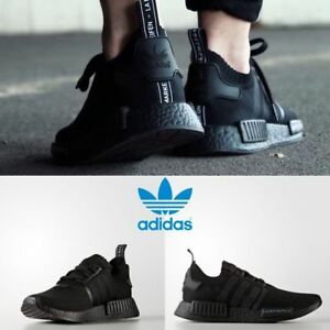 Adidas-Original-NMD-R1-PK-Japan-Sneakers-Black-Black-BZ0220-SZ-4-11-Limited
