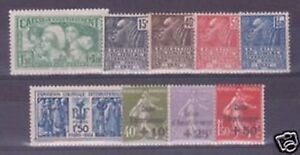 FRANCE-STAMP-YVERT-N-269-277-ANNEE-COMPLETE-1931-9-TIMBRES-NEUFS-xx-TTB