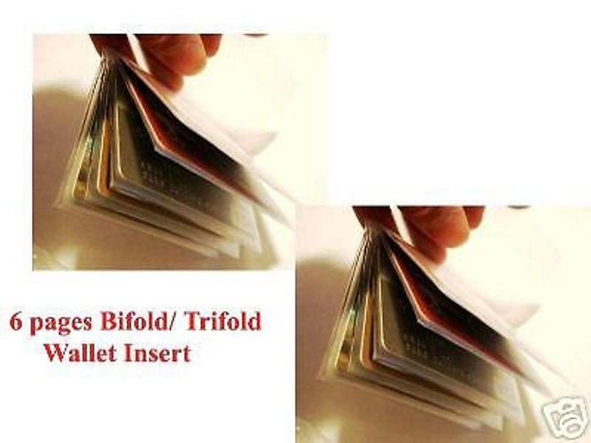 2 PCS PLASTIC INSERTS FOR TRIFOLD or BIFOLD WALLETS New