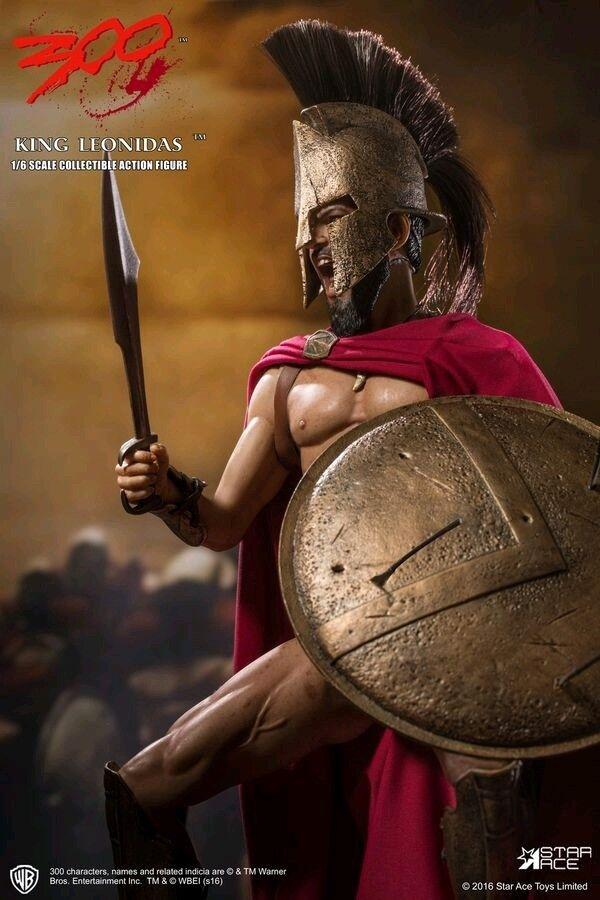 1:6 Scale Figures--300 - King Leonidas 12  1:6 Scale Action Figure