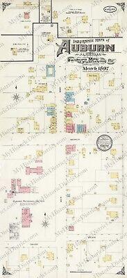 Auburn, AL  Alabama 1897 Historic Antique Vintage Map Copy 11x24