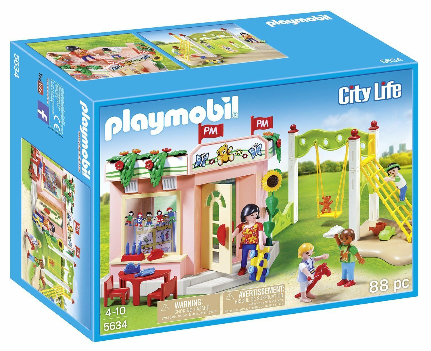 Playmobil City Life Preschool Playground Building Kit 5634 Ages 4+ Nuovo Toy Gift