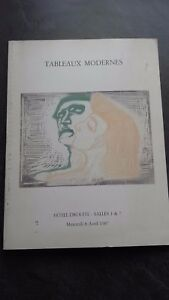 Catalogue Delle Vendita Lavagna Drouot Moderno Parigi 1987 Be IN 8