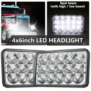 Pair DOT 4X6 inch LED Headlight Work Driving Light High Low Beam For Truck Car
