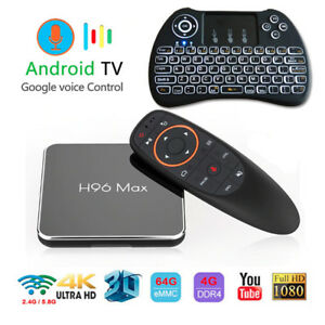 Details about H96 MAX-X2 Quad Core Android WiFi 64GB Bluetooth 4K TV  Box+Voice Control Remote