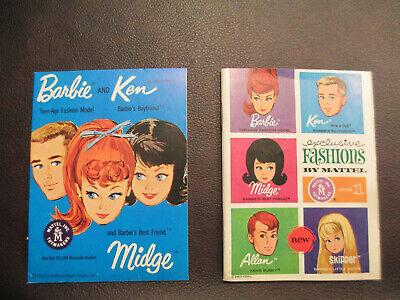 1963 VINTAGE BARBIE KEN MIDGE ALLAN EXCLUSIVE FASHIONS BOOK 2