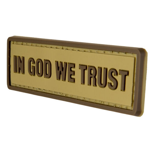 G-FORCE In God We Trust Hook /& Loop Airsoft Tactical PVC Morale Patch
