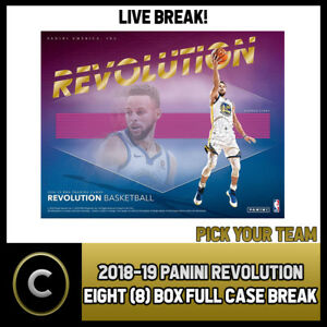 2018-19-PANINI-REVOLUTION-8-BOX-FULL-CASE-BREAK-B043-PICK-YOUR-TEAM