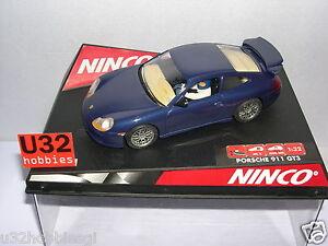 Ninco 50234 Slot Car Porsche Gt3 Route Bleu Mb