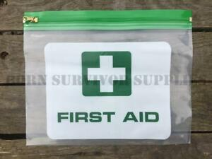 2-x-CLEAR-PLASTIC-FIRST-AID-KIT-POUCH-Empty-Trauma-Bag-Wallet-Survival-Case