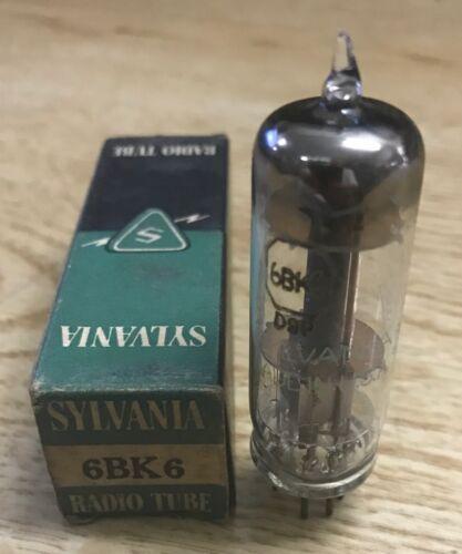 6BK6 Sylvania Vacuum Tube NOS NIB Tested Strong More Available