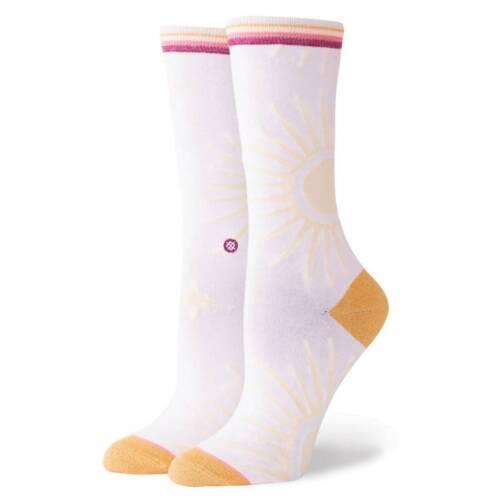 STANCE SOCKS NEW Women/'s Rays Everyday Crew Socks White BNWT