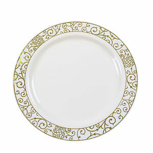 Image is loading 30-x-9-034-23cm-Cream-Gold-Rim-  sc 1 st  eBay & 30 x 9\