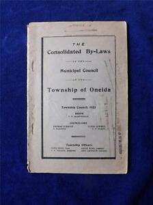 CONSOLIDATED-BY-LAWS-BOOKLET-MUNICIPAL-COUNCIL-TOWNSHIP-OF-ONEIDA-1923-CANADA