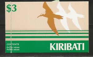 Kiribati-SC-392a-396-Panes-Of-four-Stamps-Birds-Complete-Booklet-Mint