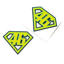 V Rossi `SUPER ROSSI` sticker  motorcycle decals custom graphics x 2