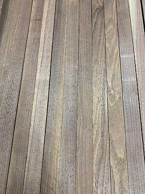 "Beautiful 3//4""x 2""x 21"" DIY Wood, 12 Boards BLACK WALNUT Lumber Dried Size"