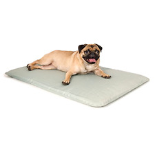 """Cooling Dog Bed, Gray Dog Bed, Small Pet Bed 17x24"""" Indoor Outdoor Dog Bed"""