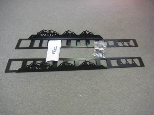 Black Powder Coat WRP Mountain Tuff Boards 2011-2015 Pro RMK