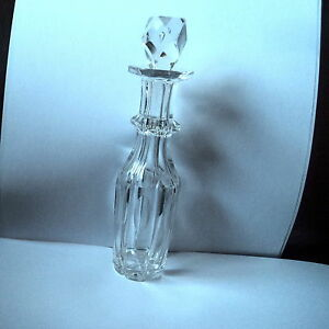 BEAUTIFUL-TALL-ART-DECO-LENS-AND-SLICE-CUT-CRYSTAL-SCENT-OR-PERFUME-BOTTLE